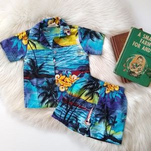 Vintage toddler Hawaiian outfit